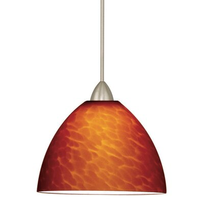 Americana 1-Light Faberge Line Voltage Track Pendant Finish: Dark Bronze, Shade Color: Amber, Track Type: Flexrail2 Two-Circuit