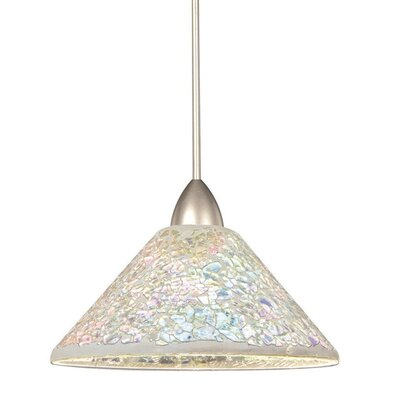 Artisan Micha 1-Light Line Voltage Track Pendant Finish: Platinum, Shade Color: Diachronic, Track Type: Flexrail2 Two-Circuit