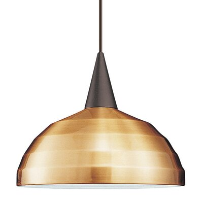 Flexrail1 1-Light Felis Track Pendant Shade Color: Brushed Nickel, Finish: Dark Bronze, Socket Set: F1