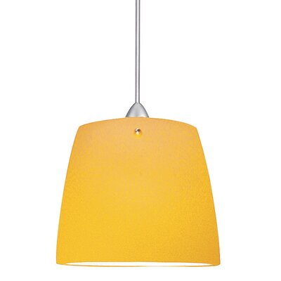 Flexrail2 1-Light Ella Line Voltage Track Pendant Shade Color: Amber, Finish: Dark Bronze