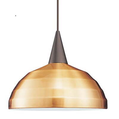 Industrial Felis 1-Light Line Voltage Mini Track Pendant Shade Color: Copper, Finish: Brushed Nickel, Track Type: Lightolier Series