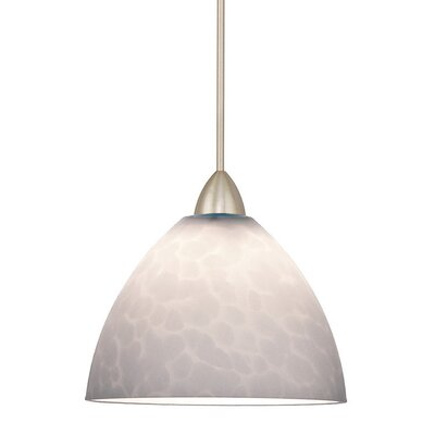 Americana 1-Light Faberge Line Voltage Track Pendant Shade Color: White, Finish: Platinum, Track Type: Flexrail1 Monorail
