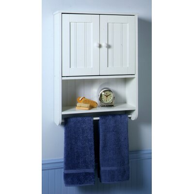 HOME DEPOT - AMANDA 24 IN. WALL CABINET WITH TOWEL BAR 2-DOOR AND
