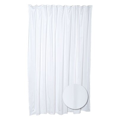 Vinyl Shower Curtain Color: White