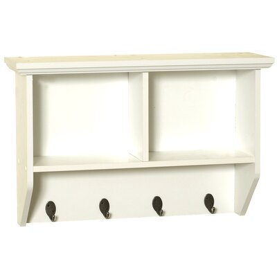 Zenith Wall Shelf with Hooks - Finish: White at Sears.com
