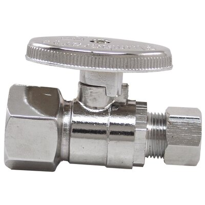 0.5 x 0.375 Low Lead Quick Shut Off Straight Valve