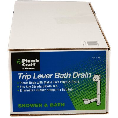 1.5 Trip lever Tub Drain With Overflow