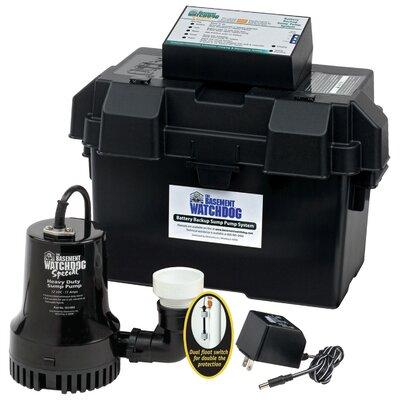 Battery Backup Sump Pump System