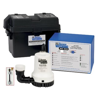 Computer Controlled A/C - D/C Battery Backup Sump Pump System