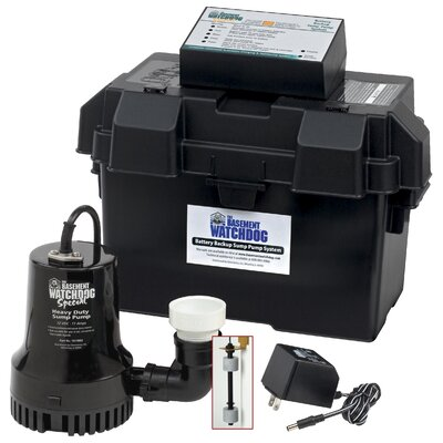 basement watchdog 1730 gph battery backup sump pump system