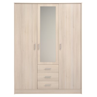 Matos 3 Door Wardrobe Armoire Color: Light Acacia