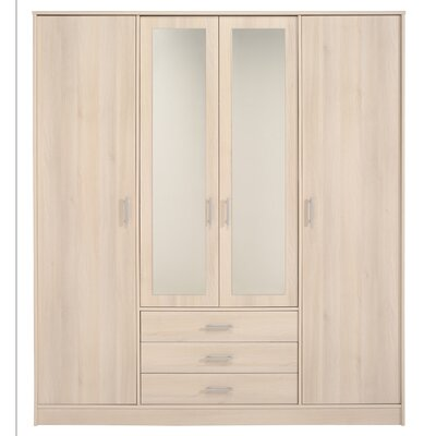 Matos 4 Door Wardrobe Armoire Color: Light Acacia