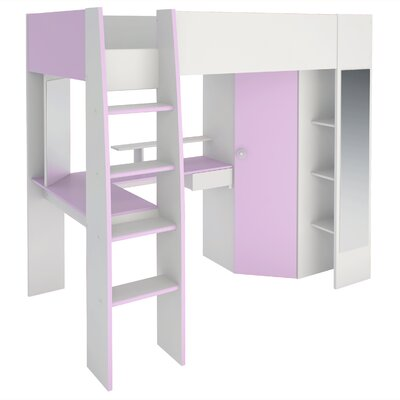 Den Helder High Sleeper Twin Loft Bed with Drawers