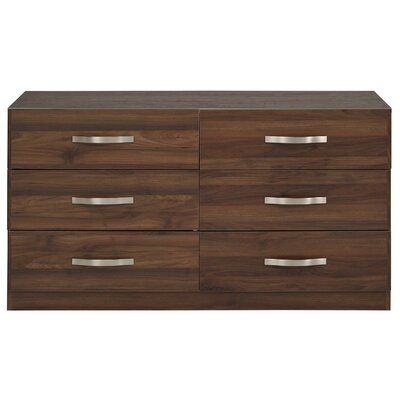 Caley 6 Drawer Double Dresser Color: Brazilian Walnut