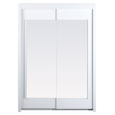 Matos 2 Door Wardrobe Armoire Color: White