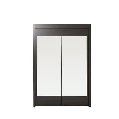 Matos 2 Door Wardrobe Armoire Color: Coffee