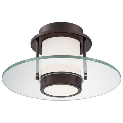1-Light Flush Mount Finish: Copper Bronze Patina