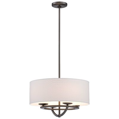 Circuit 4-Light Drum Pendant Size: 10.25 H x 18 W x 18 D