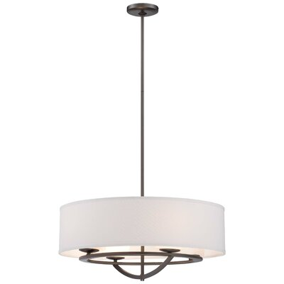 Circuit 4-Light Drum Pendant Size: 10.05 H x 24 W x 24 D
