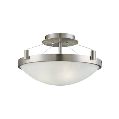 Suspended 3-Lights Semi Flush Mount