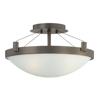 Suspended 3-Light Semi Flush Mount