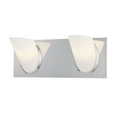 Nuvo Lighting Empire Vanity Light with Frosted White Glass in ...