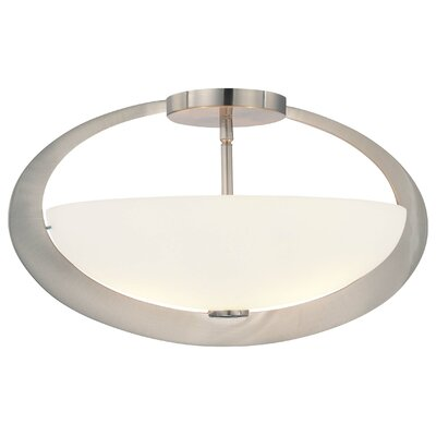Earring 2-Light Semi Flush Mount