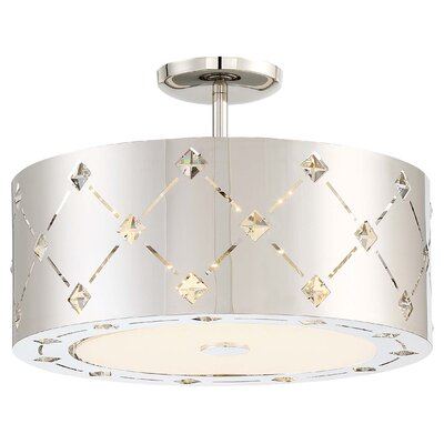 Juna 1-Light LED Drum pendant