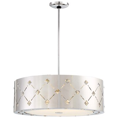 Juna 1-Light LED Drum Pendant