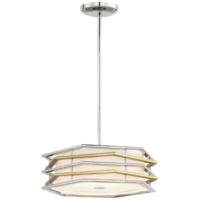 Alethea Modern 1-Light LED Drum Pendant