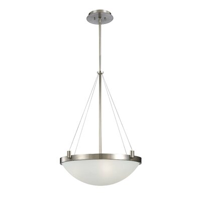 Suspended 4-Light Inverted Pendant