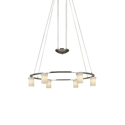 Counter Weights 6-Light Shaded Chandelier