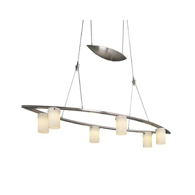 Counter Weights 6-Light Kitchen Island Pendant