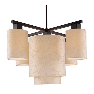 Kimono 5-Light Shaded Chandelier