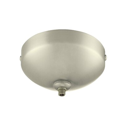 GK Lightrail LED Mono Point Canopy Finish: Brushed Nickel