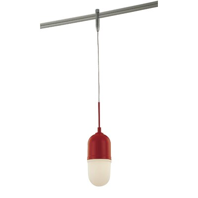 GK Lightrail 1-Light Pendant Finish: Matte Red