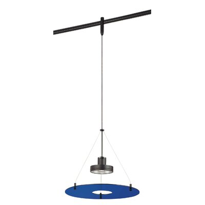 GK Lightrail 6-Light Mini Pendant Finish: Sable Bronze Patina, Glass Color: Blue