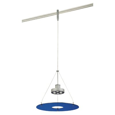 GK Lightrail 6-Light Mini Pendant Finish: Silver, Glass Color: Blue