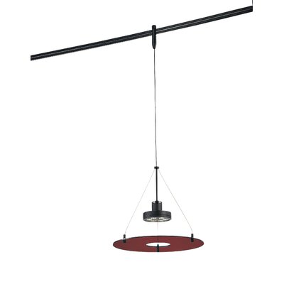 GK Lightrail 6-Light Mini Pendant Finish: Sable Bronze Patina, Glass Color: Red