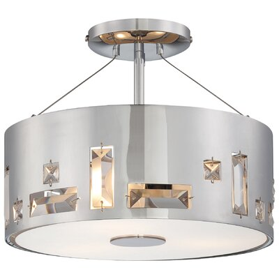 Khoa 3-Light Semi Flush Mount Finish: Chrome