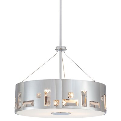 Khoa 4-Light Drum Pendant Finish: Chrome
