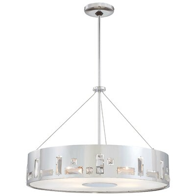 Khoa 5-Light Drum Pendant Finish: Chrome
