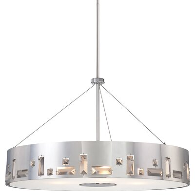Bling Bang 6-Light Drum Pendant Finish: Chrome
