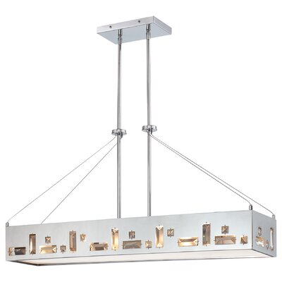 Bling Bang 6-Light Kitchen Island Pendant Finish: Chrome