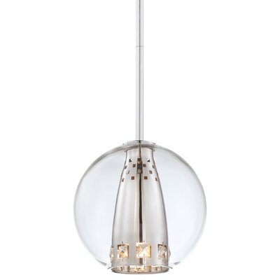 Bling Bang 1-Light Globe Mini Pendant Finish: Chrome