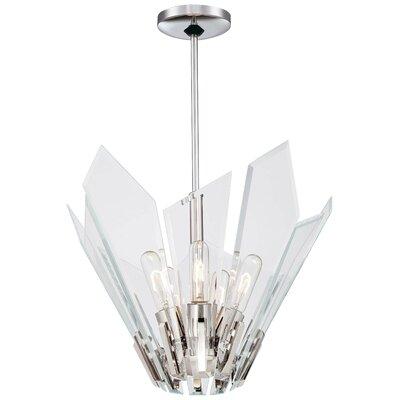 Glassy 5-Light Inverted Pendant