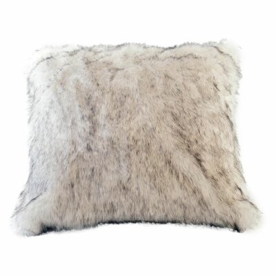 Arctic Fox Faux Fur Pillow Cover