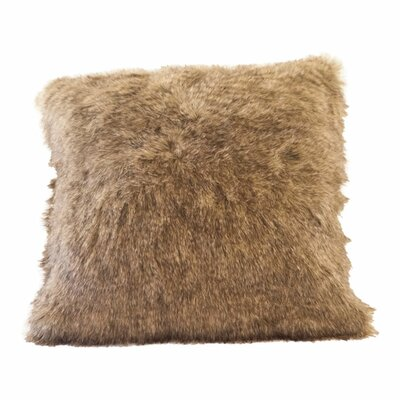 Raccoon Tail Faux Fur Pillow Cover
