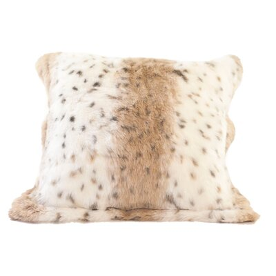 Lynx Jacquard Faux Fur Pillow Cover