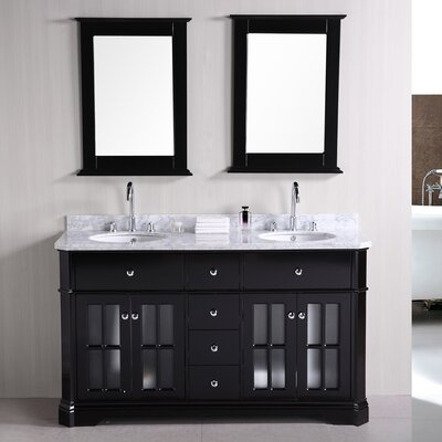 Princeton 60 Double Bathroom Vanity Set with Mirror